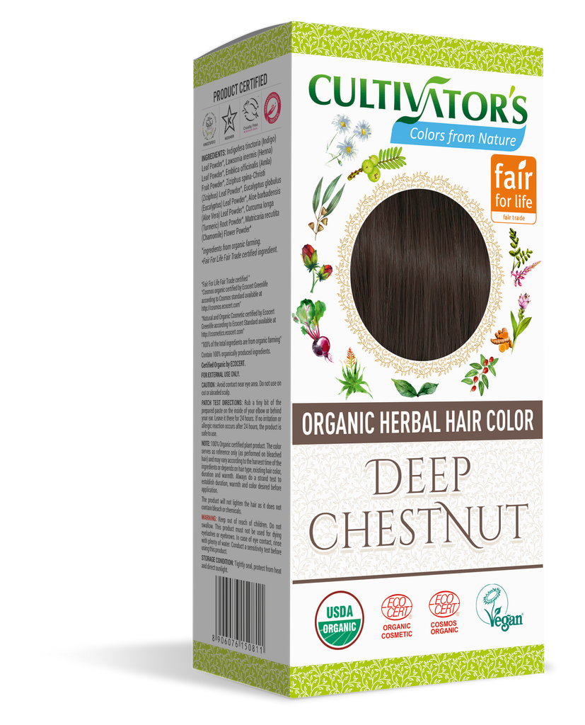 ORGANIC HERBAL HAIR COLOR DEEP CHESTNUT - SHOP.CULTIVATOR.IN