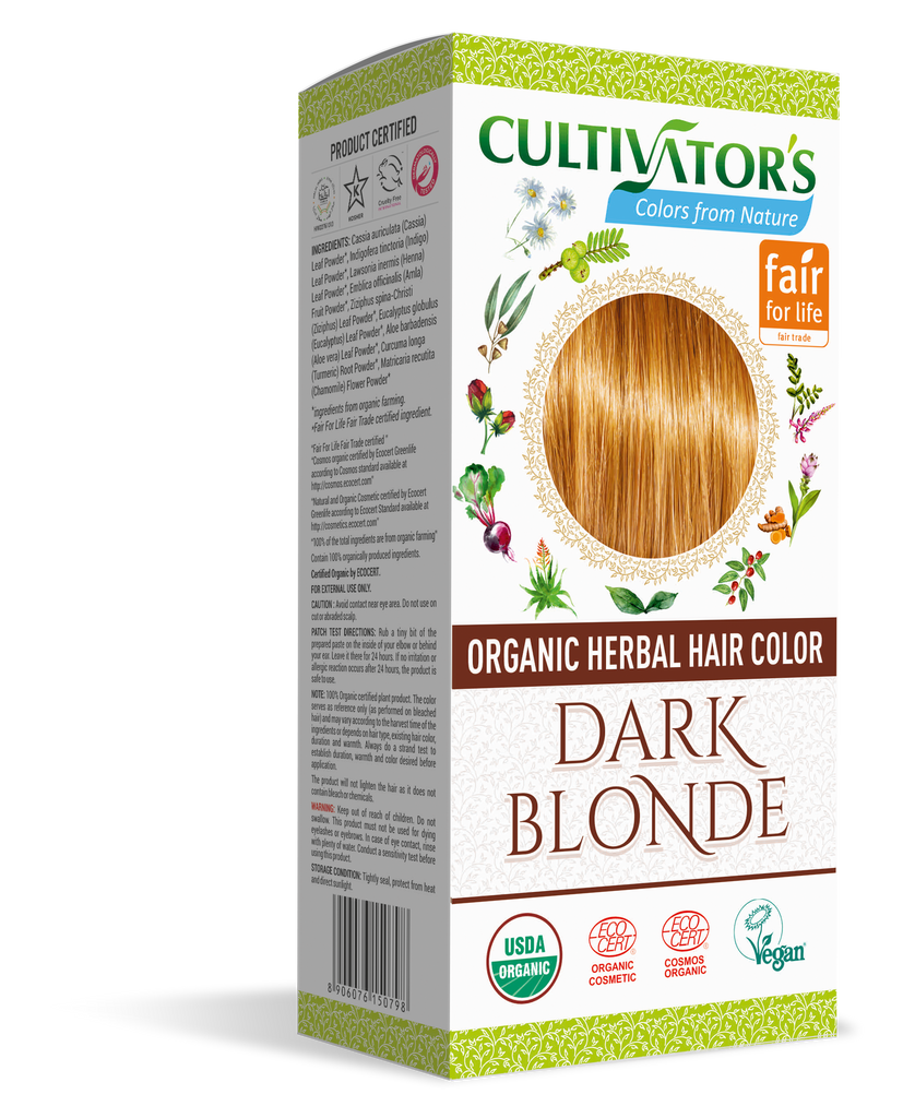 ORGANIC HERBAL HAIR COLOR DARK BLONDE - SHOP.CULTIVATOR.IN