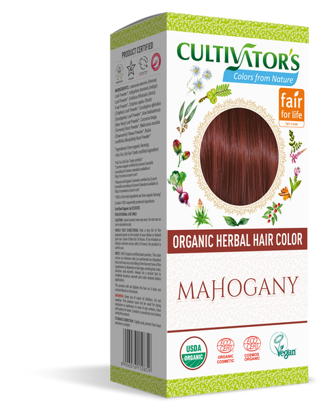 ORGANIC HERBAL HAIR COLOR MAHOGANY - SHOP.CULTIVATOR.IN