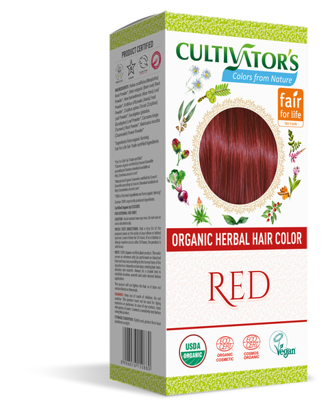 ORGANIC HERBAL HAIR COLOR RED - SHOP.CULTIVATOR.IN