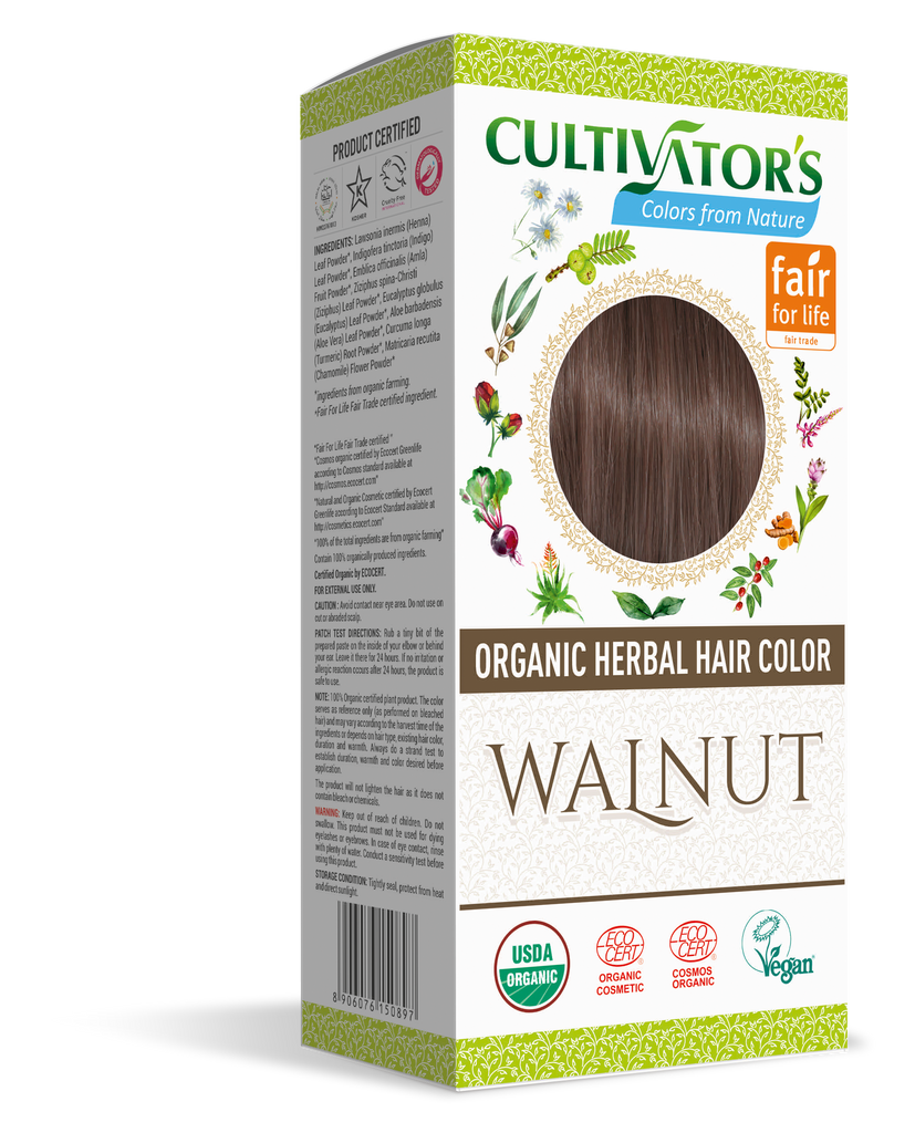 ORGANIC HERBAL HAIR COLOR WALNUT - SHOP.CULTIVATOR.IN
