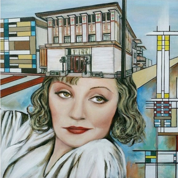 Tallulah Bankhead art created by feminist canadian visual artist
