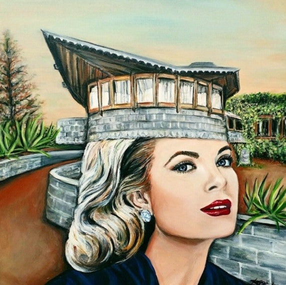 Art of Grace Kelly created by canadian visual artist Karen Robb who is based out in Winnipeg Manitoba