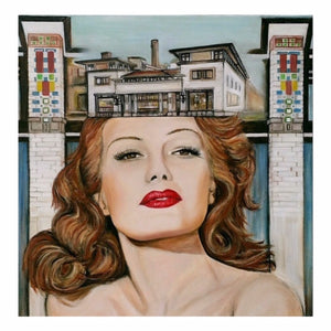 Candian Visual artist Karen Robb created an art series to represent powerful women Rita Hayworth is among the Frankly Speaking series