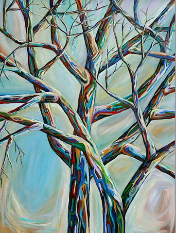 Artist Karen Robb created tree series .This piece is part of tree series and available for prints