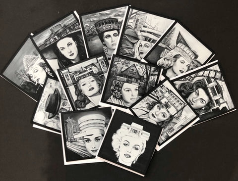 These are feminist art cards which respresent powerful women fighting for women rights