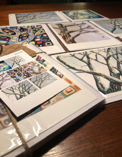 Artist Karen Robb created tree series .This piece is part of tree series and available for prints  and art cards best suited for home decor and gifts