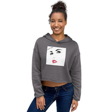 Load image into Gallery viewer, 'Red Sun' Trendy Crop Hoodie