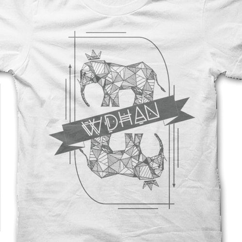 Elephant Playing Card Unisex Tee