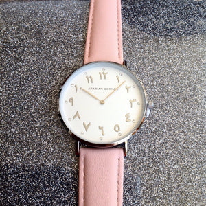 Silver Pink leather