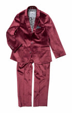 Load image into Gallery viewer, Appaman Burgundy Velvet 2pc Mod Suit