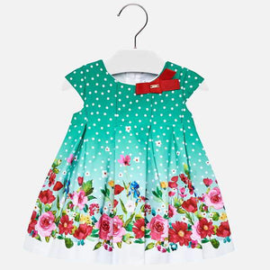MAYORAL  Sleeveless Polka Dot Dress For Baby Girl