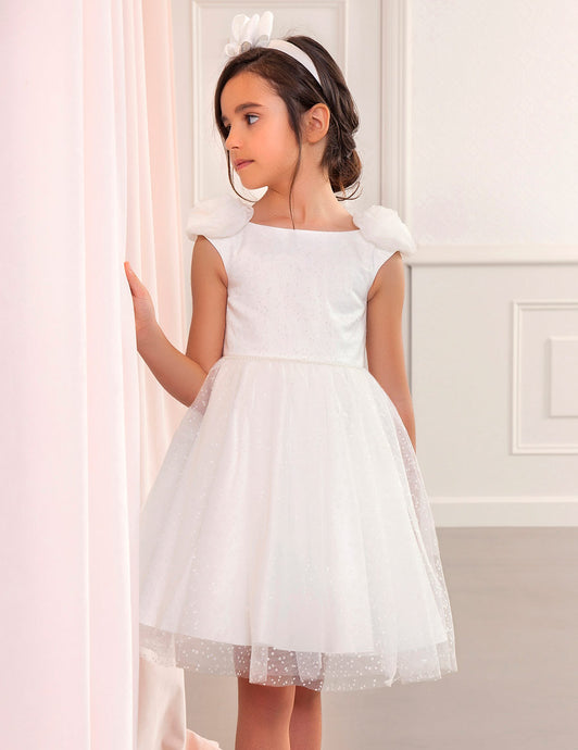 Abel & Lula White Tulle Dress