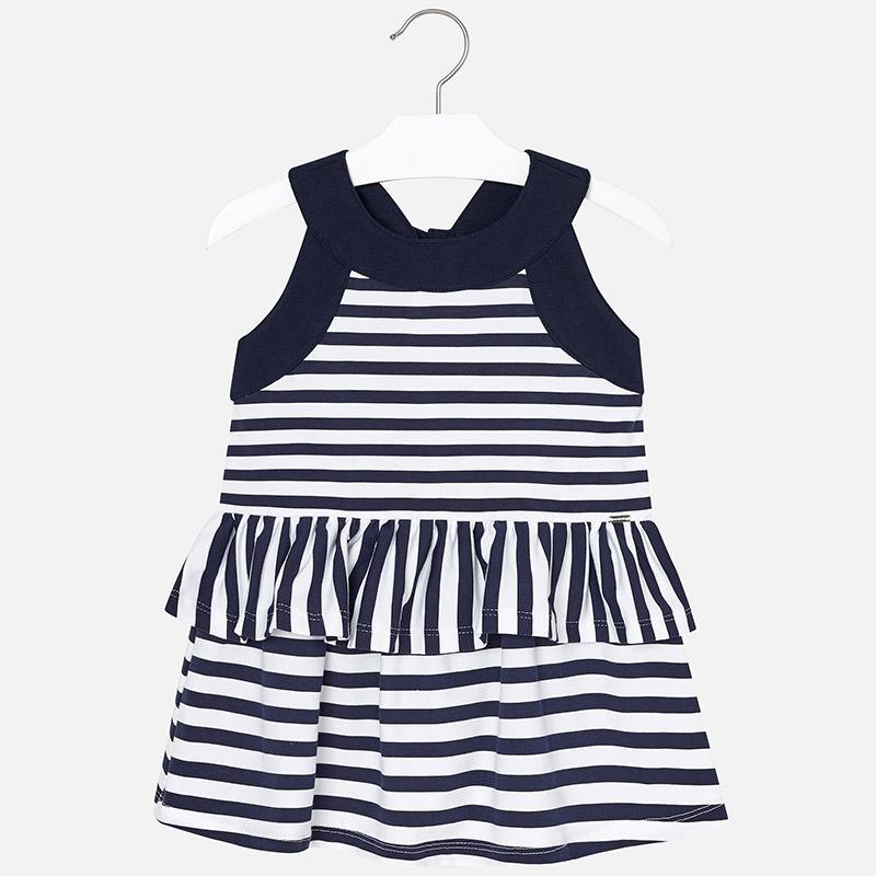 MAYORAL  Striped Ruffle Dress For Girl