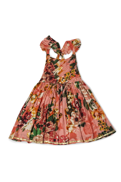 Ujala Design Alia Peach Floral Dress