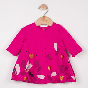 CATIMINI Baby Girls Fuchsia Cotton Bubble Dress