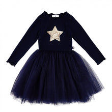 Load image into Gallery viewer, Petite Hailey Navy LS Sha Star Tutu