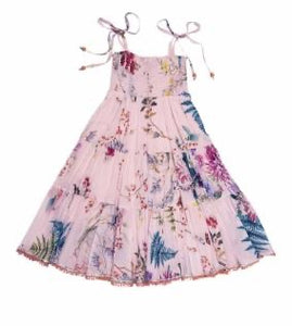 UJALA PINK FLORAL LARA DRESS