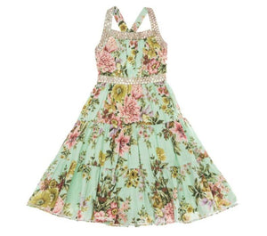 Ujala Design Delia Aqua Floral Dress