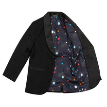 Load image into Gallery viewer, Velveteen Lawrence Boys Black Tuxedo Dress Jacket