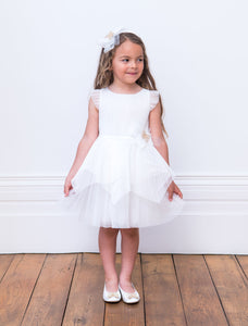 David Charles Ivory Butterfly Bridesmaid Gown