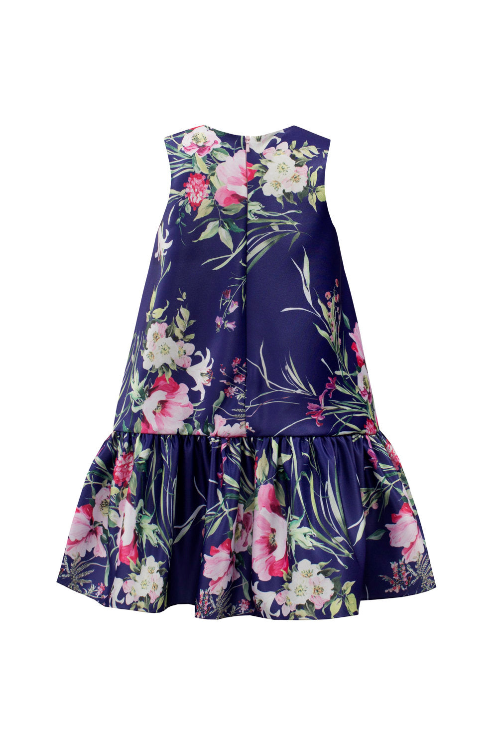 Load image into Gallery viewer, David Charles Royal Blue Floral Shift Dress