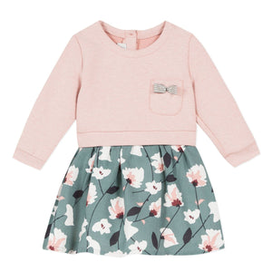 Jean Bourget Girls Dress with Floral Skirt