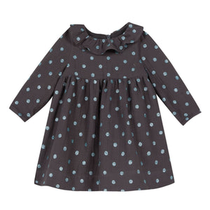 Jean Bourget Girls Polka Dot Knit Dress