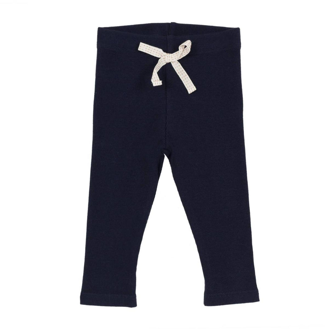 Jean Bourget Baby & Toddler Girls Ribbed Blue Leggings