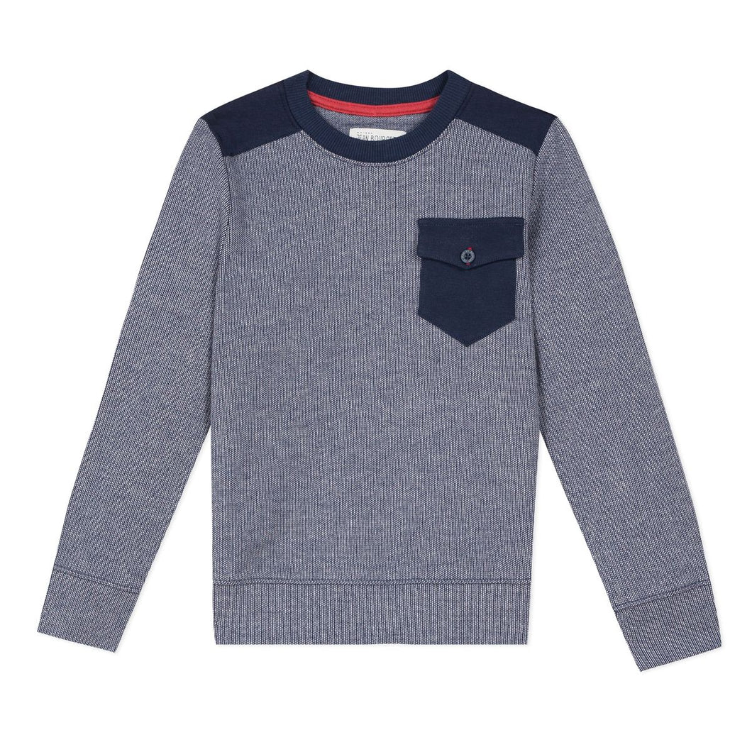 Jean Bourget Boys Long Sleeve Top with Front Pocket