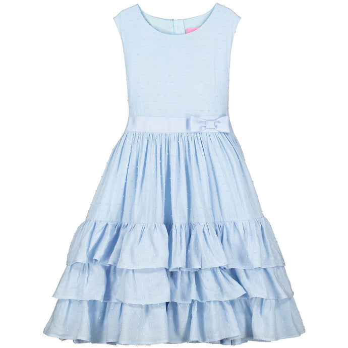 Holly Hastie Arabella Cotton Dobby Blue Dress