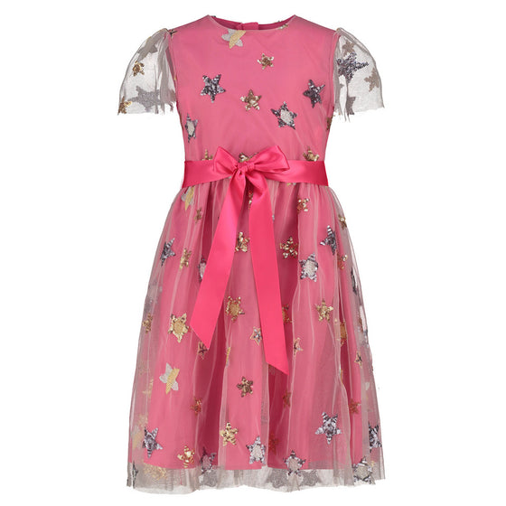 Holly Hastie Hot Pink Stars Tulle Dress