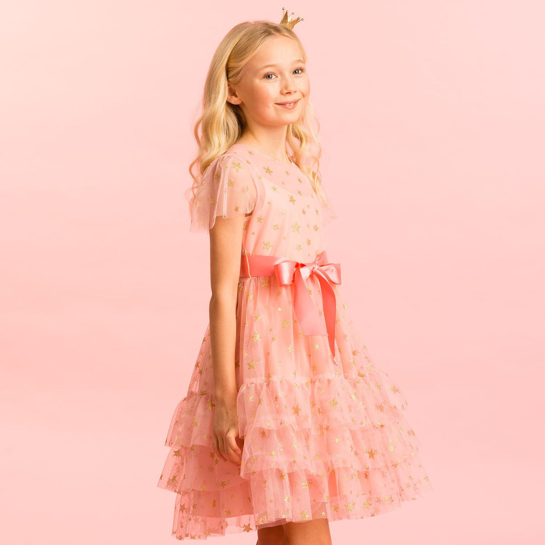 Holly Hastie Cinderella Pink Star Tulle Party Dress