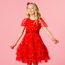 Load image into Gallery viewer, Cinderella Red Star Holly Hastie Dress
