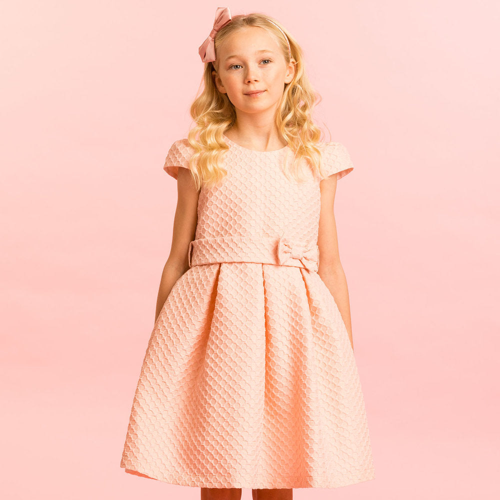 Load image into Gallery viewer, Holly Hastie Pink Jacquard Dress