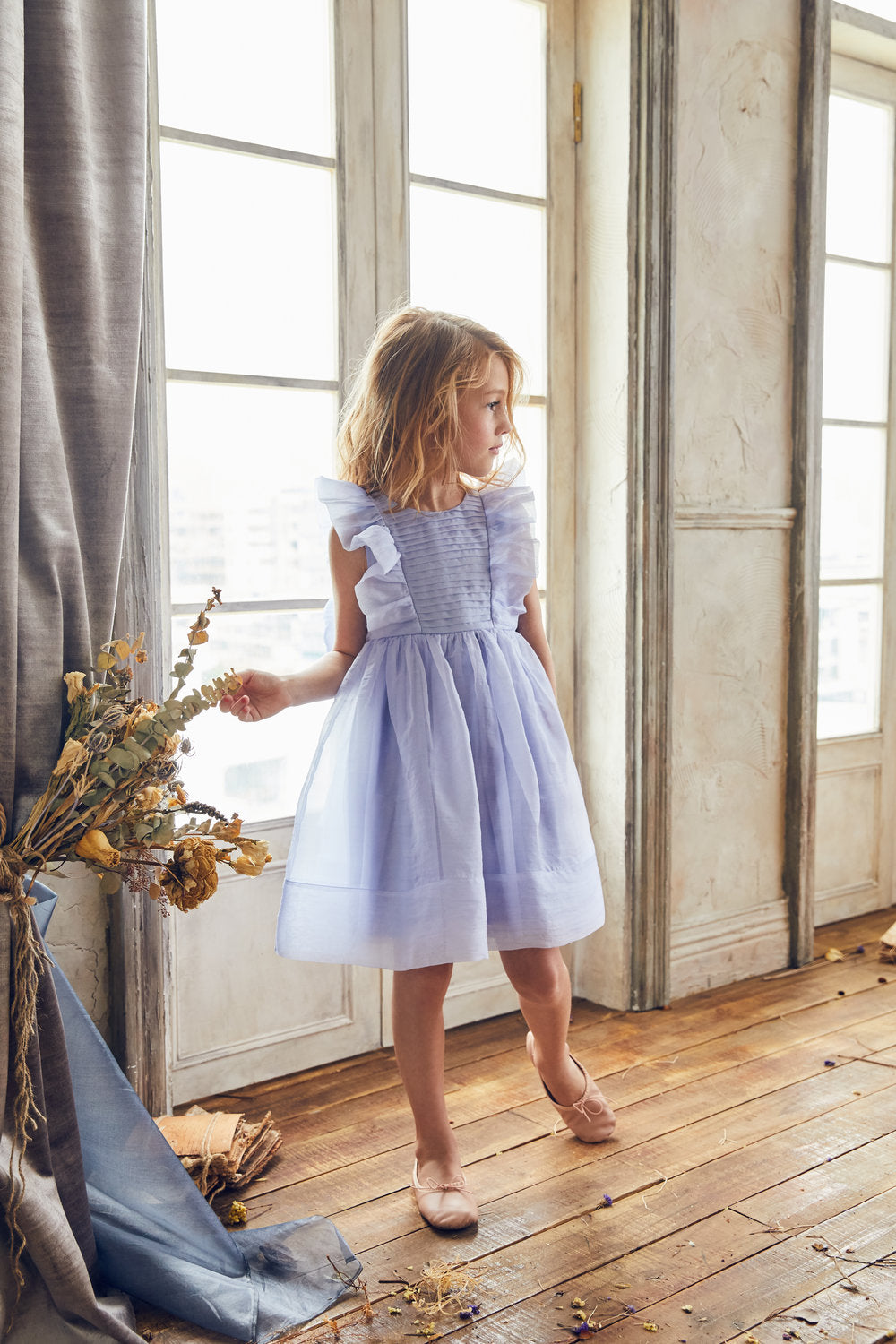 Load image into Gallery viewer, LOVE by Nellystella Mae Dress French Lilac