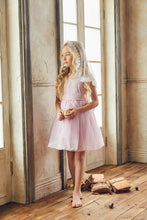 Load image into Gallery viewer, LOVE by Nellystella Peach Dress in Pale Iris