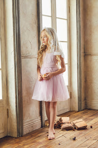 LOVE by Nellystella Peach Dress in Pale Iris