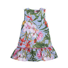 "Load image into Gallery viewer, IMOGA  ""RENATA"" Girls Tropical Floral Print Dress"