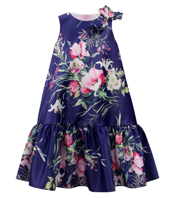 David Charles Royal Blue Floral Shift Dress