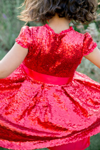 Holly Hastie Red Sequin Dress