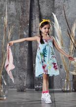 Ujala Design Mila Aqua Floral Dress