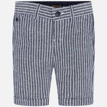 Load image into Gallery viewer, Mayoral Navy Striped Bermuda Shorts
