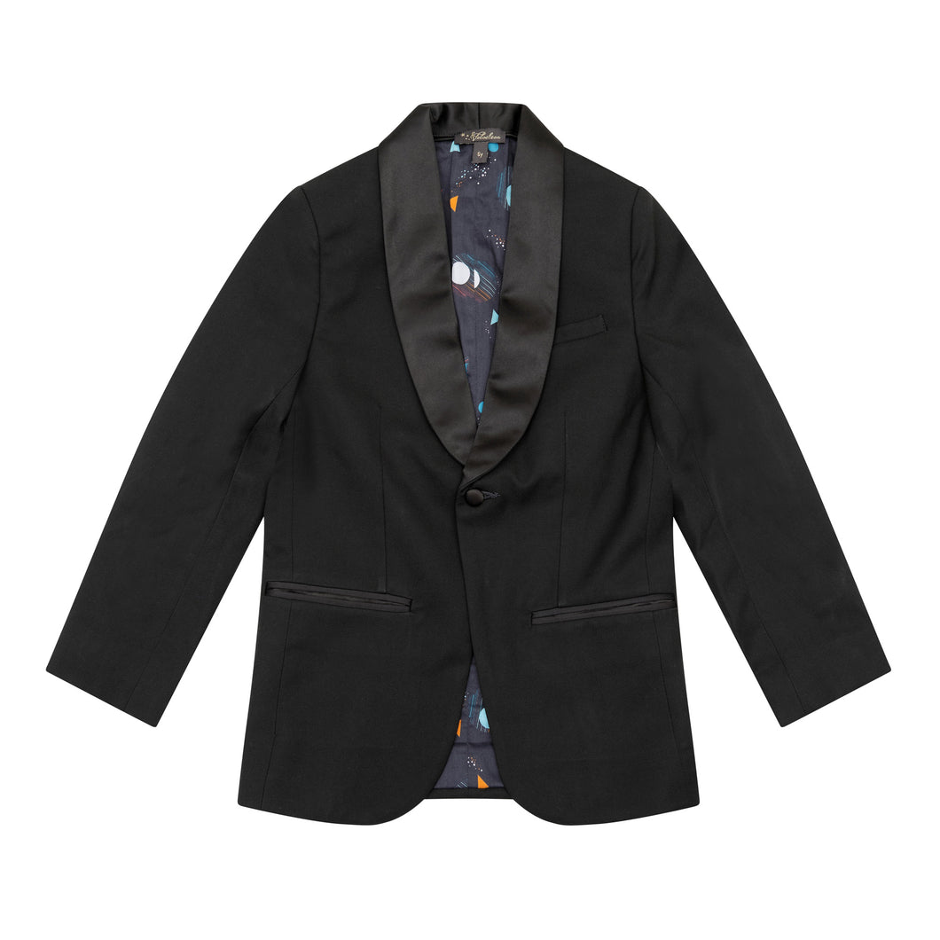 Velveteen Lawrence Boys Black Tuxedo Dress Jacket