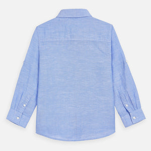 Mayoral Blue Linen Shirt