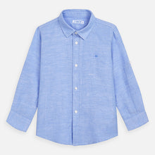 Load image into Gallery viewer, Mayoral Blue Linen Shirt