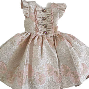 David Charles Pink Brocade Party Dress