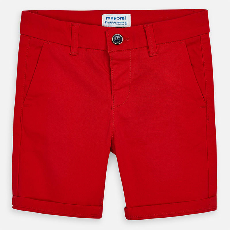 Mayoral Red Chino Shorts