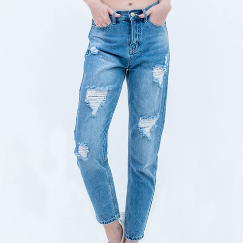Boyfriend Jeans with High Waist Push Up