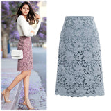 Fashion Lace Women Skirt Large Plus Size Skirts